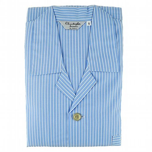 Pyjamas  - Luxury Lawn Cotton From Ireland -  Sky Blue